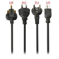Buy cheap 2 Pin 3 Pin Ac Power Cord Oem ,  Us / Eu / Uk / Sweden 220v Power Cable from wholesalers