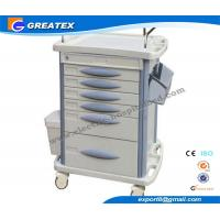 Buy cheap Record Luxury Anesthesia Hospital medical instrument trolley With Utility Container from wholesalers