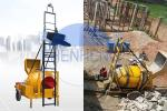 Buy cheap Hydraulic Hopper 350L 14m³/H JZR350T Diesel Cement Mixer With Ladder from wholesalers