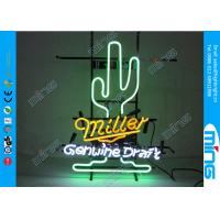 Buy cheap Advertising Green LED Neon Signs / Custom Glass Neon Lighting Sign from wholesalers