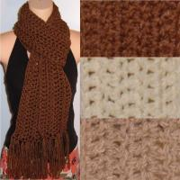 China Women Hand Made Crochet Long Scarf on sale
