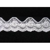 Buy cheap Water Soluble Bridal Stretch Lace Trim Wide Textured With Spandex Mesh from wholesalers