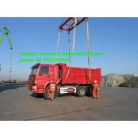 Buy cheap 336hp Red Heavy Duty Dump Truck Sinotruk 18m3 Mid Lifting For 40t Load from wholesalers