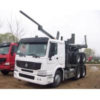 Buy cheap Sinotruk Howo Wood Transport Log Truck With Trailer , Loading 40-60t from wholesalers