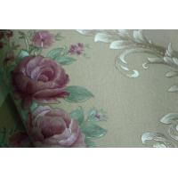 Buy cheap Eco-friendly waterproof cheap price flowers style PVC vinyl wall paper product