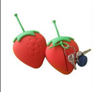 Buy cheap strawberry silicone key case ,fruit shape silicone card holder product
