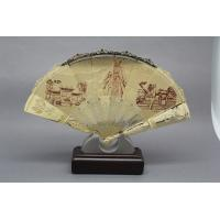 Buy cheap Hand Held  Ornament Metal Folding Fan  , Handicrafts Oriental Folding Fan  Silkscreen Printing from wholesalers
