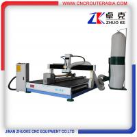 Buy cheap 4 axis desktop CNC Router engraver machine with dust collector ZK-1218-2.2KW product
