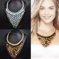 Buy cheap Customized professional Zinc Alloy  Fancy Colorful Collar Necklace from wholesalers