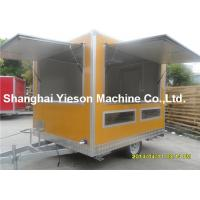 Buy cheap Out - Door Refrigerated Concessions Food Truck Trailers Yellow Kitchen Service Cart from wholesalers