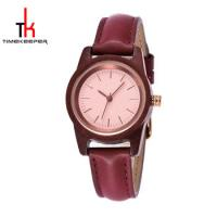 Buy cheap Girls Wooden Minimalist Leather Watch 30M Water Resistant Fashion from wholesalers