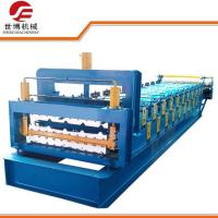 Buy cheap 380V 60Hz Double Layer Roll Forming Machine With Plastic Film Cover Protection from wholesalers