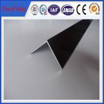 Buy cheap 6063 T5 aluminum angle profile / OEM aluminum angles / per ton of aluminum manufacturer from wholesalers