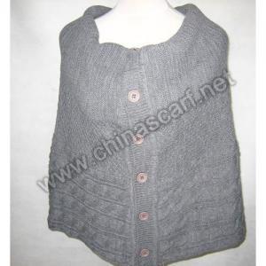 China Acrylic Knitted Shawl on sale
