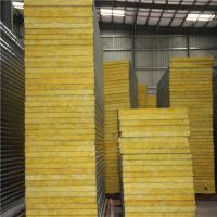 Buy cheap hotel use and 50mm greywhite sandwich panel material prefab glass wool sandwich panel house from wholesalers