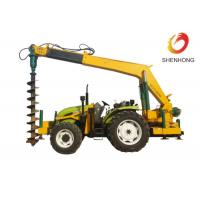 Buy cheap Tower Erection Tools 100HP Tractor Mounted Digger Machine With Crane / Auger from wholesalers
