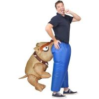 Buy cheap Man Eating Bull Dog Adult Inflatable Costumes Artificial Realistic Animatronic from wholesalers