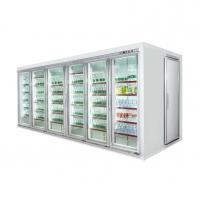 Buy cheap Refrigerated Glass Door Display Chiller / Walk In Refrigerator Cold Room from wholesalers