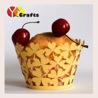 Buy cheap Laser Cut Cupcake Wrappers Laser cutting wedding paper Cupcake Cups Wrappers for Cake Decorative from wholesalers