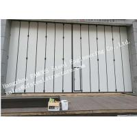 Buy cheap Aluminum Alloy Frame Upper Track Industrial Accordion Doors For Aircraft Hangar from wholesalers