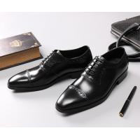 Buy cheap Leather Spring / Fall Black Dress Shoes Mens Fashion Goodyear Soles Oxfords from wholesalers