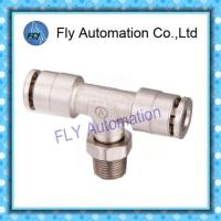 Buy cheap Pneumatic Tube Fittings T-Tee nickel-plated brass push-in fittings PB series from wholesalers