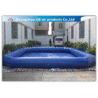 Buy cheap Commercial Giant Swimming Pool Inflatables , Dark Blue Large Inflatable Pool Toys 8 * 6m from wholesalers