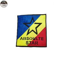 Buy cheap Large Star Custom Made Embroidered Patches Chenille Material Blue / Red / Yellow from wholesalers