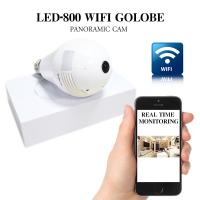 Buy cheap Fisheye 2.0 Megapixel bulb hidden camera WiFi 360 Degree surveillance security light bulb camera with Max 64GB SD Card from wholesalers