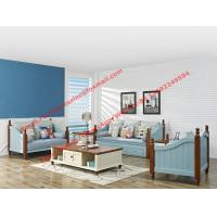 Buy cheap Solid woood with Fabric sofa set in Mediterranean Leisure design Furniture from from wholesalers