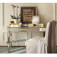 Buy cheap Home Mirrored Writing Desk , Champagne Gold Trimming Mirrored Office Desk from wholesalers