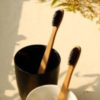 Buy cheap 100% Biodegradable Disposable Travel Toothbrush Bamboo Handle With Eco Friendly Bristle product