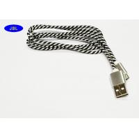 Buy cheap Color Mixture Android Cell Phone USB Cable Black / White Nylon Braided product