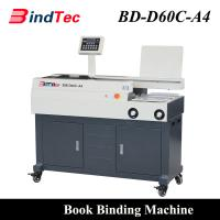 Buy cheap Electric Perfect Binder Automatic Hot Melt Glue Book Binding Machine with Side Glue from wholesalers