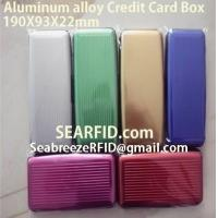 Buy cheap Aluminum alloy credit card box, Stainless steel card box, European & American styles from wholesalers