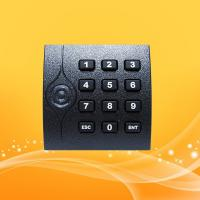 Buy cheap IP65 KR202E Keyboard RFID Card Reader , Smart Card Access Reader 86*86*16.3MM from wholesalers