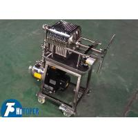 Buy cheap Small Stainless Steel Sludge Filter Press Bottom Wheels Moving 2t/H Water Flow product