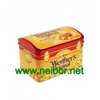 Buy cheap candy tin box with dome shaped lid metal treasure chest tin box from wholesalers