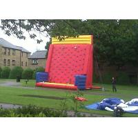 Buy cheap Safety Sports Inflatable Rock Climbing Wall Rentals On The Land With PVC Material from wholesalers
