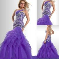Buy cheap Mermaid One Shoulder Open Back Miss USA Beauty Pageant Dress with Heavy Beaded Rhinestones TP11-02 from wholesalers