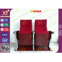 Buy cheap Aluminum Alloy Base Legs Auditorium Theatre Seating With Ash Wood Veneer Finished from wholesalers