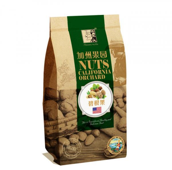 Brown Customized Paper Bags 150 Gram Snack Kraft Paper