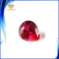 Buy cheap Bulk cheap wholesale excellent machine cut pear shape 5# syntheitc corundum ruby from wholesalers