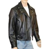 Buy cheap S M L XL sportswear stylish polar Fleece Lined Leather jackets for male product