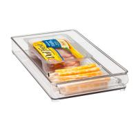 Buy cheap Rectangle Clear Acrylic Tray , 300 * 100 * 40mm OEM Logo product