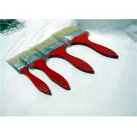 Buy cheap White Flat Natural Bristle Paint Brushes With Shuttle Type Red Wooden Handle from wholesalers