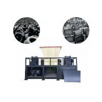 Buy cheap High Output Tire Recycling Plant Car Tyre Shredder Machine Φ400×40mm Knife Size from wholesalers