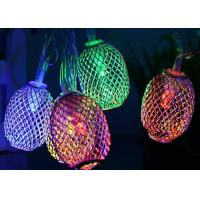 Buy cheap Warm White / Purple Solar LED String Lights , Oval Outdoor Lantern String Lights from wholesalers