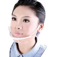 Buy cheap Transparent Plastic Sanitary Surgical Clear Face Mask , Disposable Medical Face Masks  from wholesalers