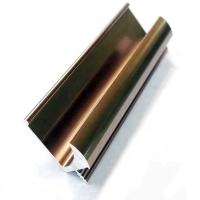 Buy cheap Aluminum Handle 2.0 mm Edge Golden Profile For Kitchen Cabinet from wholesalers